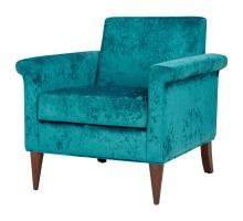 Gillian KD Velvet Fabric Accent Chair, Persian Turquoise *NEW*/1900126-381
