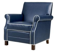 Gaston KD Bonded Leather Accent Chair, Vintage Blue *NEW*/1900127-V05