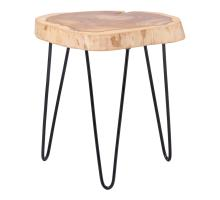 Ares KD Teak End Table, Natural/2400030