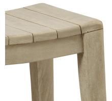 Elmo Wooden Counter Stool, Washed Gray/6600012-WG