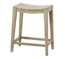 Elmo Wooden Counter Stool, Washed Gray *NEW*/6600012-WG