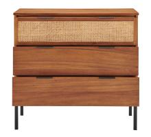 Caine Rattan Chest 3 Drawers, Brown *NEW*/8000062