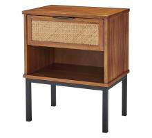 Caine Rattan Night Stand/Side Table, Brown *NEW*/8000063