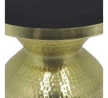 Emrie Side Table, Shiny Brass/Black/1260004-B
