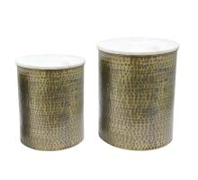 Kent Marble Side Table Set of 2, Antique Brass *NEW*/1260005