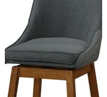 Annette KD Fabric Swivel Bar Stool, Morgan Dark Gray/1310005-384