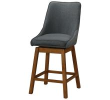 Annette KD Fabric Swivel Bar Stool, Morgan Dark Gray *NEW*/1310005-384