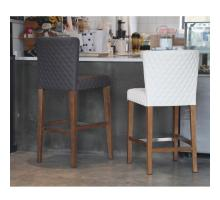 Albie KD Diamond Stitching PU Counter Stool, Danburry White/3900054-342