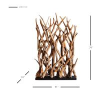 Ibiza Reclaimed Teak Root Divider, Natural/9600026