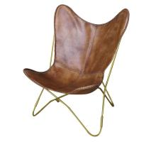 Malcolm KD Leather Accent Chair, Luxe Brown/1280009