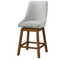 Annette KD Fabric Swivel Bar Stool, Morgan Light Gray/1310005-383