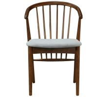 Harry KD Dining Chair Dark Walnut Frame, Studio Gray *NEW*/1320002-501