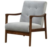 Nicholas KD Arm Chair Dark Walnut Frame, Studio Gray *NEW*/1320003-501