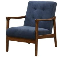 Nicholas KD Arm Chair Dark Walnut Frame, Studio Dark Blue *NEW*/1320003-502