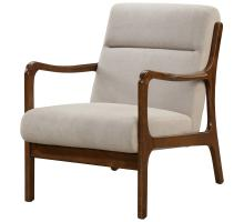 Anton KD Arm Chair Dark Walnut Frame, Studio Light Brown/1320004-503