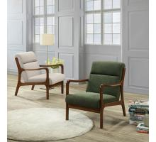 Anton KD Arm Chair Dark Walnut Frame, Studio Dark Green/1320004-504