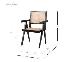 Bordeaux Rattan Dining Chair, Black/ Natural/4900019