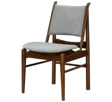 Wembley KD Fabric Chair Dark Walnut Frame, Studio Gray *NEW*/1320007-501