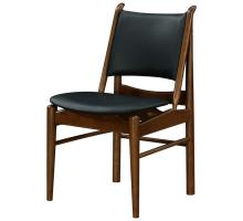 Wembley KD PU Chair Dark Walnut Frame, Black *NEW*/1320008-524