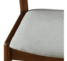 Swansea KD Fabric Chair Dark Walnut Frame, Studio Gray/1320009-501