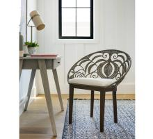Ambrosia KD Rattan Chair Dark Brown Legs, Washed Gray/1040002