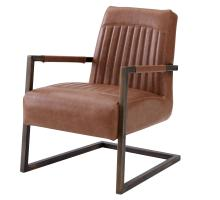 Jonah KD PU Arm Chair, Antique Cigar Brown/1060006-215