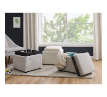 Cameron Square Fabric Storage Ottoman w/ tray, Cardiff Gray *NEW*/1900131-410