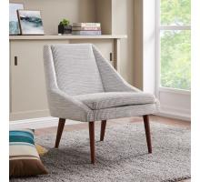 Enzo KD Fabric Accent Chair, Squarespace Gray *NEW*/1900138-409