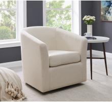 Hayden Fabric Swivel Arm Chair, Cardiff Cream/1900142-276