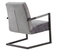 Jonah KD Fabric Arm Chair, Sage Gray/Velvet Gray/1060015-4225