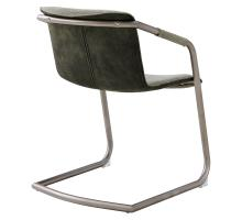 Indy Fabric Side Chair Silver Frame, Sage Green/Velvet Green *NEW*/1060016-4224