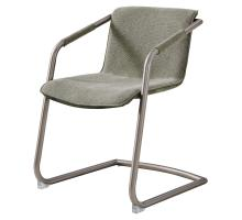 Indy Fabric Side Arm Chair Silver Frame, Sage Green/Velvet Green *NEW*/1060016-4224