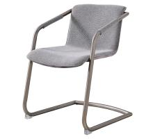Indy Fabric Side Arm Chair Silver Frame, Sage Gray/Velvet Gray *NEW*/1060016-4225