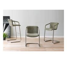 Indy Fabric Counter Stool w/ Arms Silver Frame, Sage Green/Velvet Green *NEW*/1060017-4224