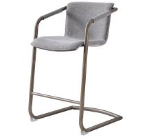Indy Fabric Counter Stool w/ Arms Silver Frame, Sage Gray/Velvet Gray *NEW*/1060017-4225