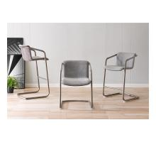 Indy Fabric Bar Stool Silver Frame, Sage Gray/Velvet Gray *NEW*/1060018-4225