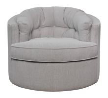 Priscille Fabric Swivel Accent Chair, Brussel Light Gray *NEW*/1250012-414