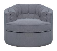 Priscille Fabric Swivel Accent Chair, Brussel Dark Gray *NEW*/1250012-415