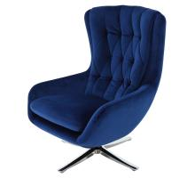 Maia KD Velvet Fabric Swivel Chair, Dark Blue *NEW*/1350005-405