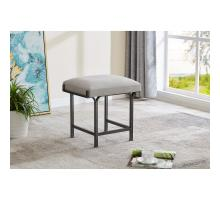 Kiky Fabric Ottoman, Sigma Gray/ Gunmetal *NEW*/1600070-545