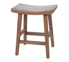 Sinclair Rope Backless Counter Stool, Gray/7400035