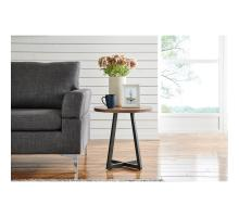 Courtdale KD Round End Table, Gliese Brown *NEW*/9300079-546