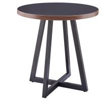 Courtdale KD Round End Table, Black/9300079-547
