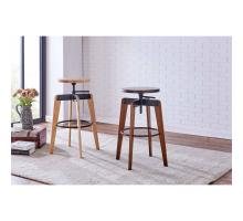 Nelson KD Adjustable Stool,  Walnut/ Metallic Gunmetal *NEW*/9300087-548