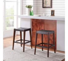 Novak KD Counter Stool, Metallic Gunmetal/ Walnut *NEW*/9300088