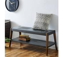 Novak KD Bench, Metallic Gunmetal/ Walnut *NEW*/9300090