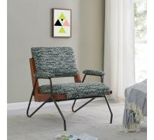 Smith KD Fabric Accent Arm Chair, Arrow Deep Green *NEW*/9900067-527
