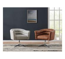 Holmes KD Fabric Swivel Arm Chair, Cardiff Gray/9900071-410