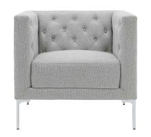 Johnson KD Fabric Tufted Accent Chair, Cardiff Gray *NEW*/9900073-410
