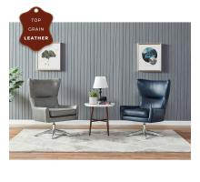 Arya KD Top Grain Leather Swivel Chair, Garrett Blue *NEW*/1900154-429